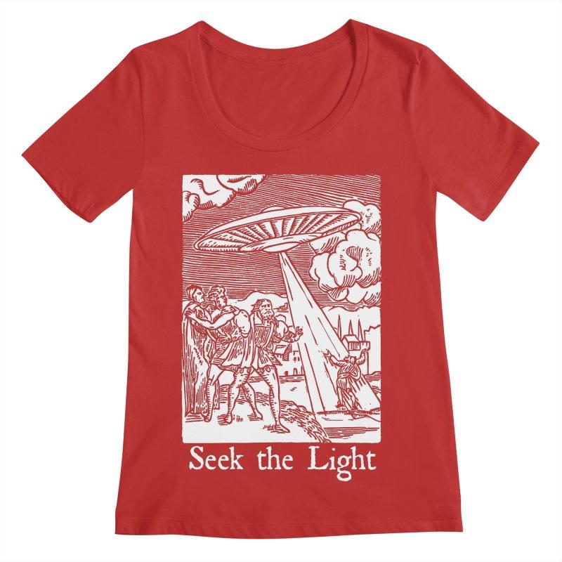Seek the Light Women's Regular Scoop Neck by The Corey Press