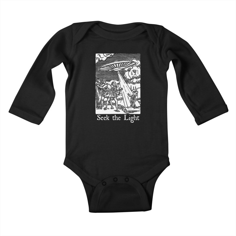 Seek the Light Kids Baby Longsleeve Bodysuit by The Corey Press