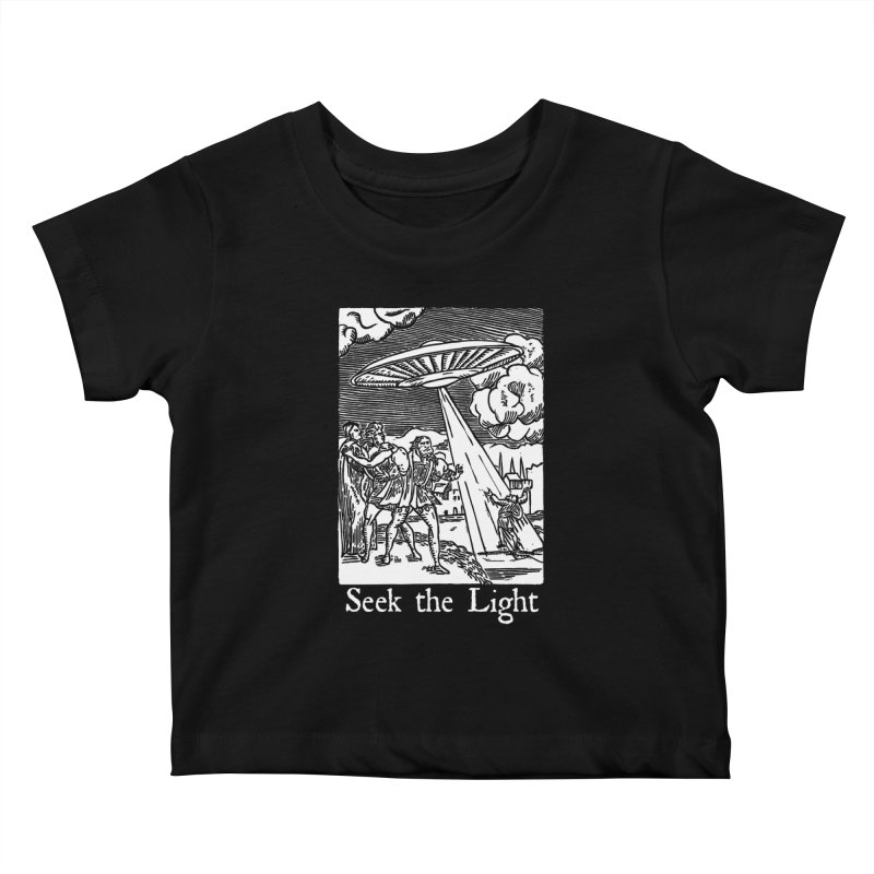 Seek the Light Kids Baby T-Shirt by The Corey Press