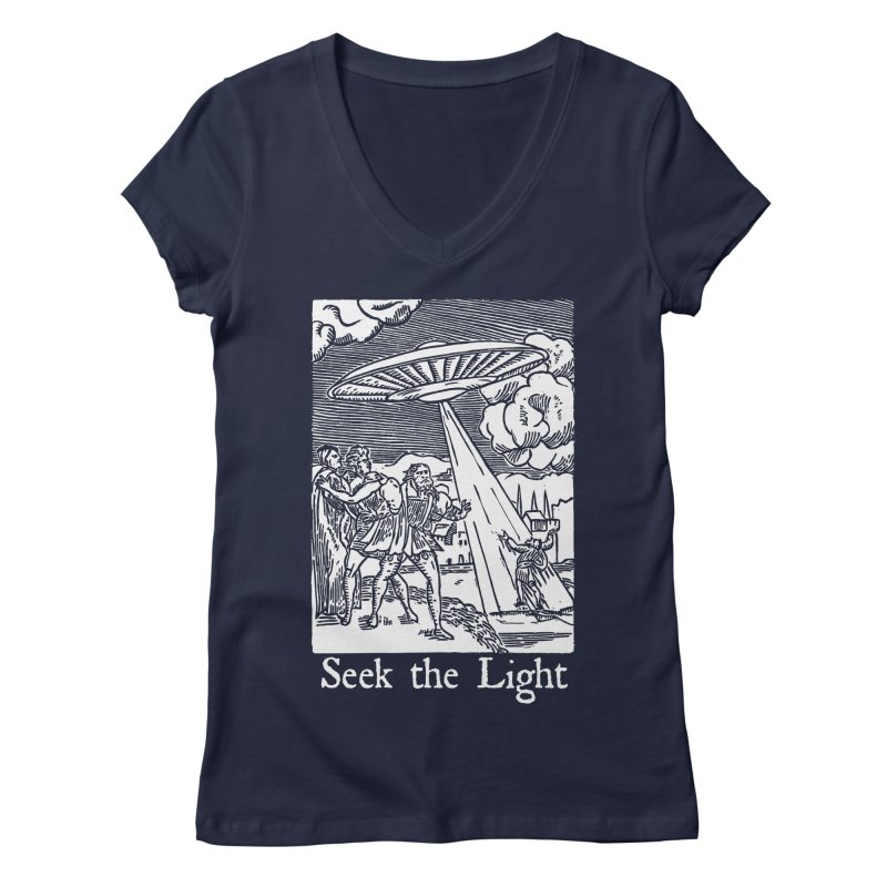 Seek the Light Women's Regular V-Neck by The Corey Press
