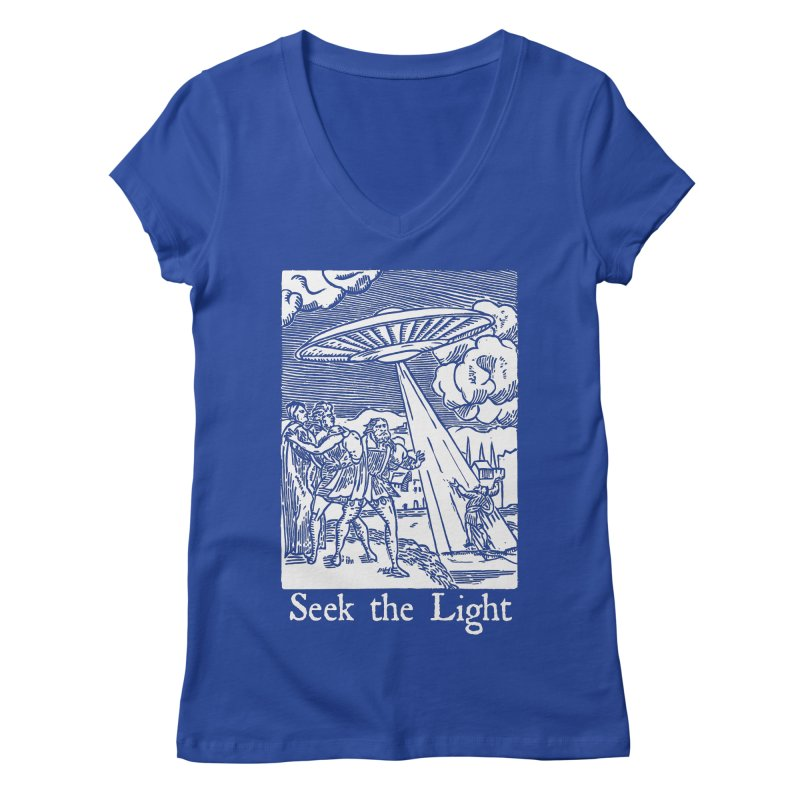 Seek the Light Women's Regular V-Neck by The Corey Press