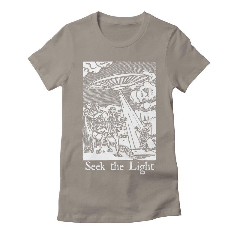 Seek the Light Women's Fitted T-Shirt by The Corey Press