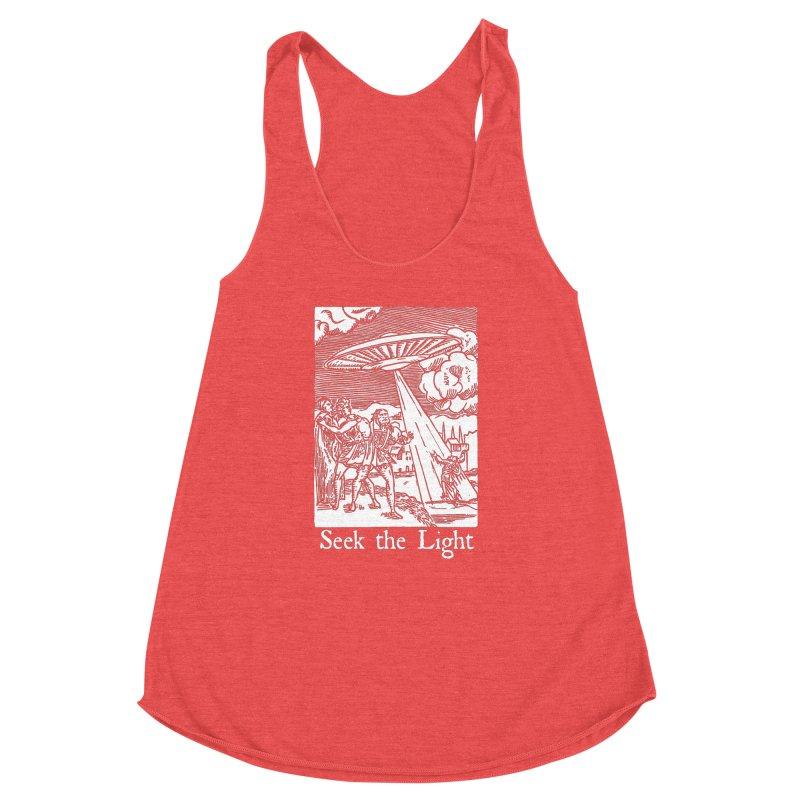 Seek the Light Women's Racerback Triblend Tank by The Corey Press