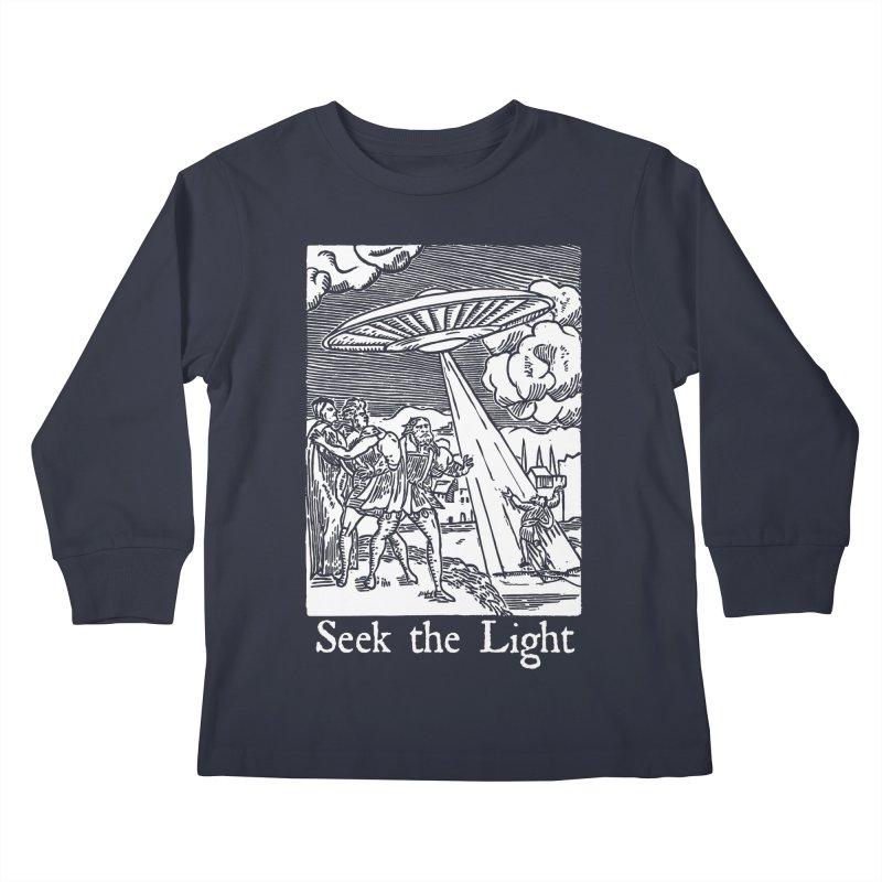 Seek the Light Kids Longsleeve T-Shirt by The Corey Press