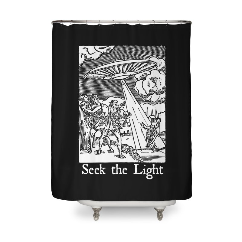 Seek the Light Home Shower Curtain by The Corey Press