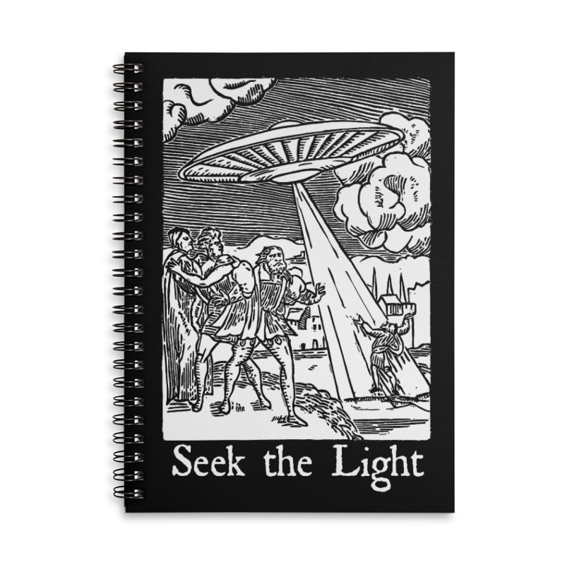 Seek the Light Accessories Lined Spiral Notebook by The Corey Press