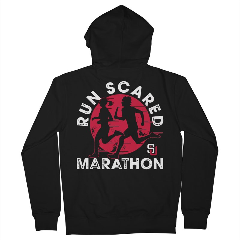 Run Scared Marathon Women's Zip-Up Hoody by Scare U