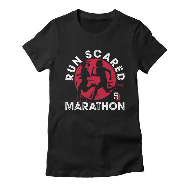 Run Scared Marathon Women's Fitted T-Shirt by Scare U