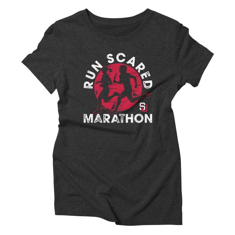 Run Scared Marathon Women's Triblend T-shirt by Scare U