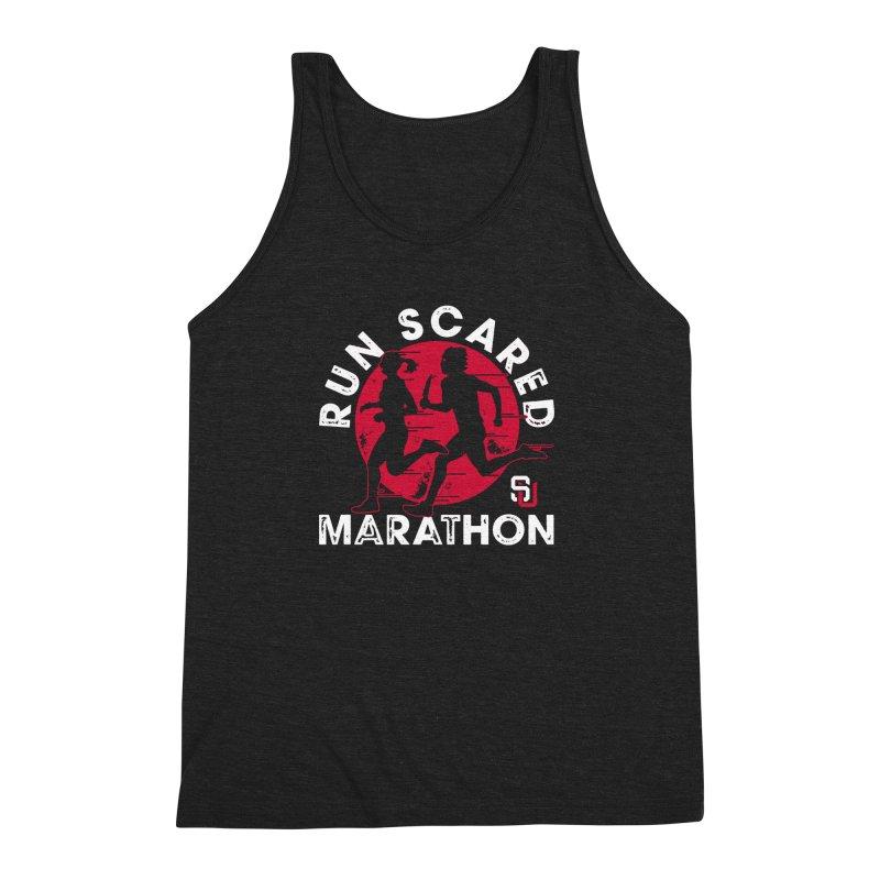 Run Scared Marathon Men's Triblend Tank by Scare U