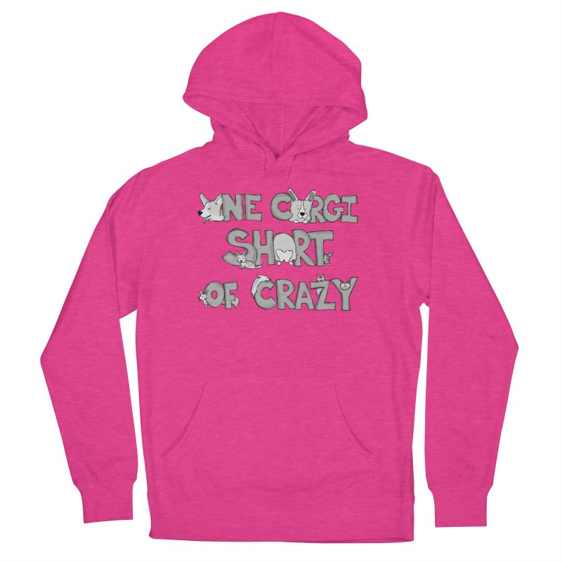 One Corgi Short of Crazy Men's French Terry Pullover Hoody by Corgi Tales Books