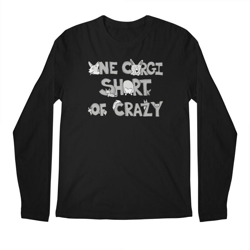 One Corgi Short of Crazy Men's Regular Longsleeve T-Shirt by Corgi Tales Books