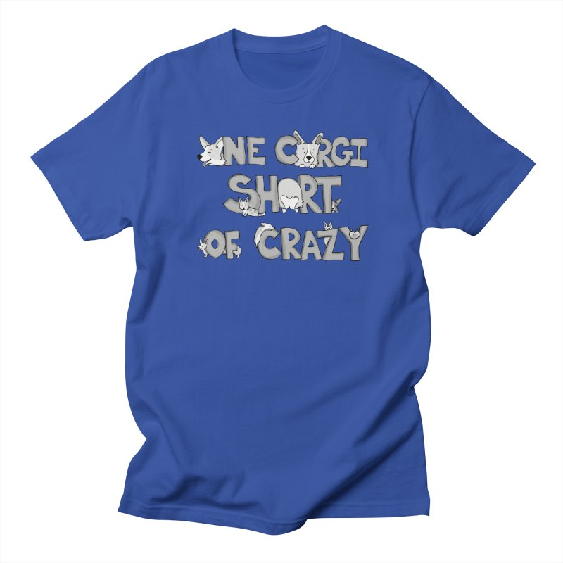 One Corgi Short of Crazy Men's Regular T-Shirt by Corgi Tales Books