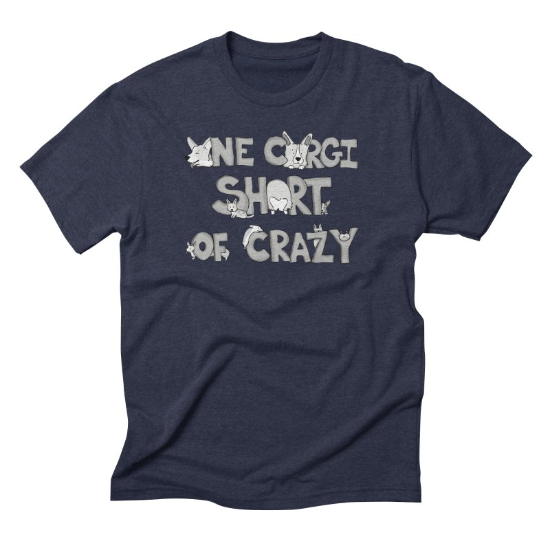 One Corgi Short of Crazy Men's Triblend T-Shirt by Corgi Tales Books