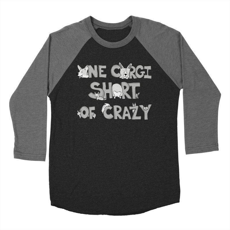 One Corgi Short of Crazy Men's Baseball Triblend Longsleeve T-Shirt by Corgi Tales Books