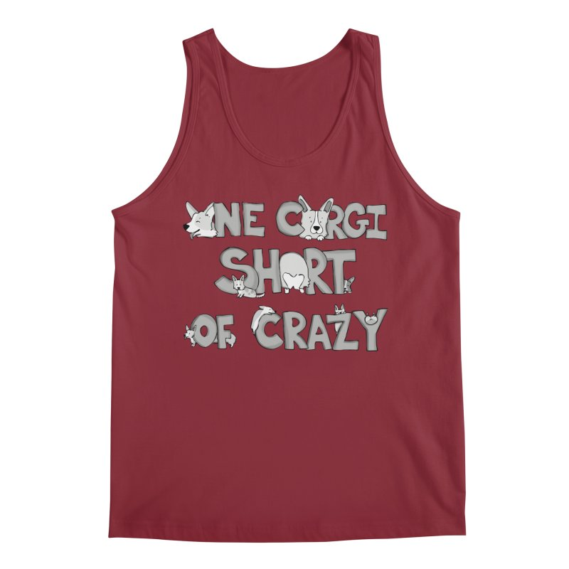 One Corgi Short of Crazy Men's Tank by Corgi Tales Books