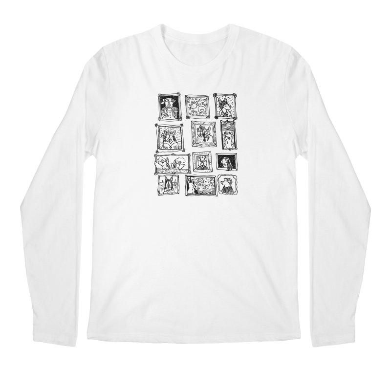 Corgi Portraits Men's Regular Longsleeve T-Shirt by Corgi Tales Books
