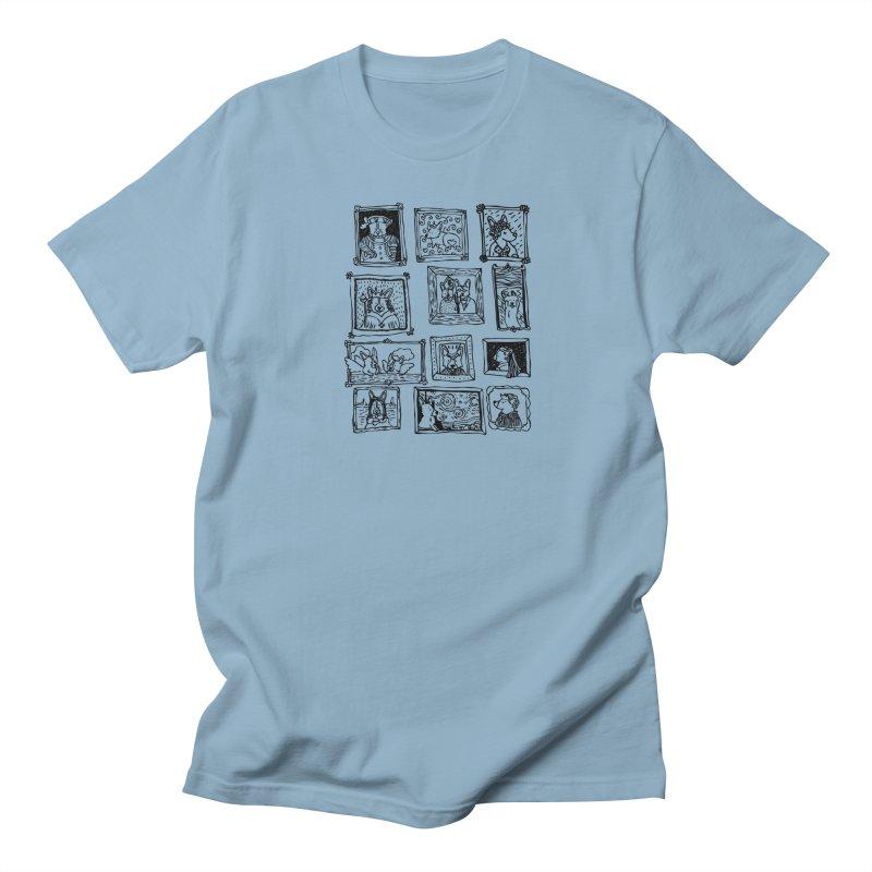 Corgi Portraits Women's Regular Unisex T-Shirt by Corgi Tales Books