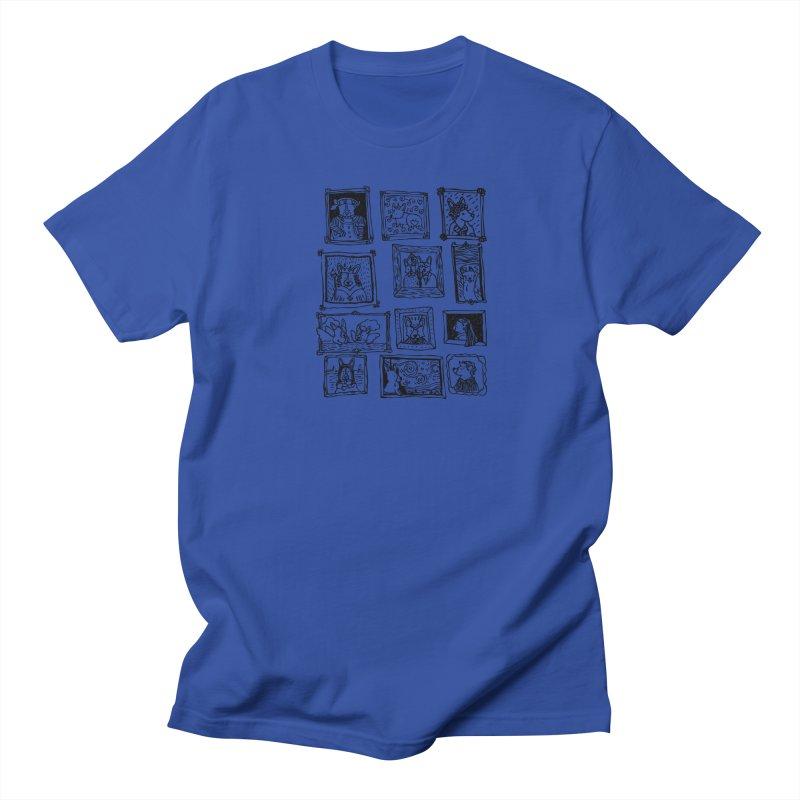 Corgi Portraits Men's Regular T-Shirt by Corgi Tales Books