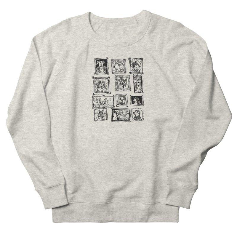 Corgi Portraits Men's French Terry Sweatshirt by Corgi Tales Books