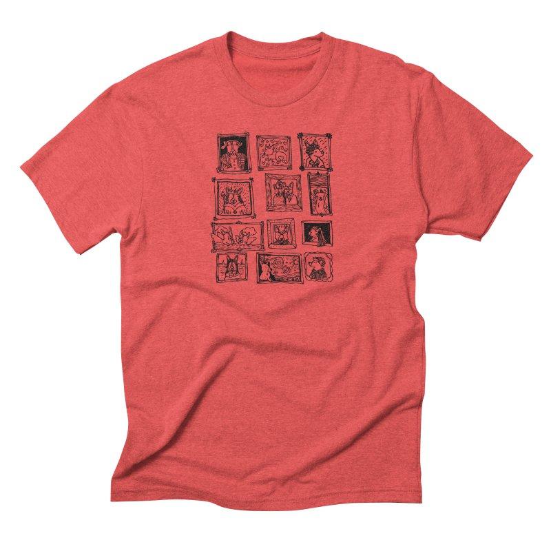 Corgi Portraits Men's Triblend T-Shirt by Corgi Tales Books