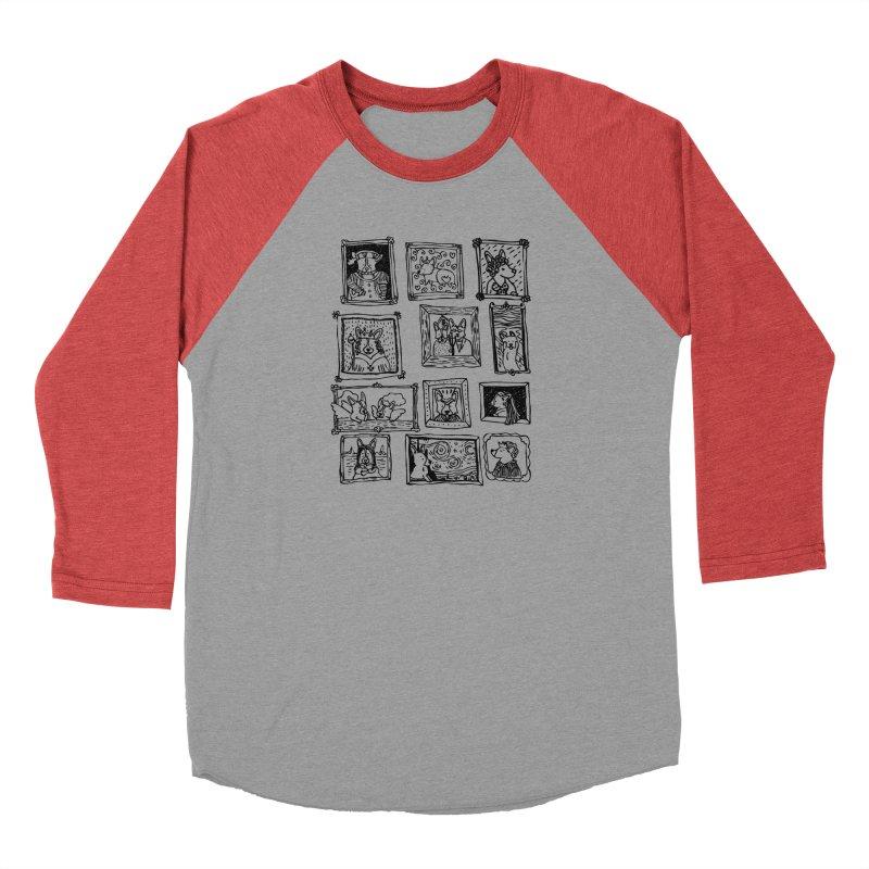 Corgi Portraits Women's Baseball Triblend Longsleeve T-Shirt by Corgi Tales Books