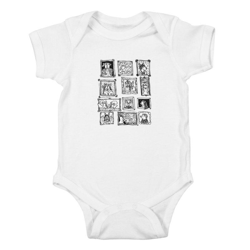Corgi Portraits Kids Baby Bodysuit by Corgi Tales Books