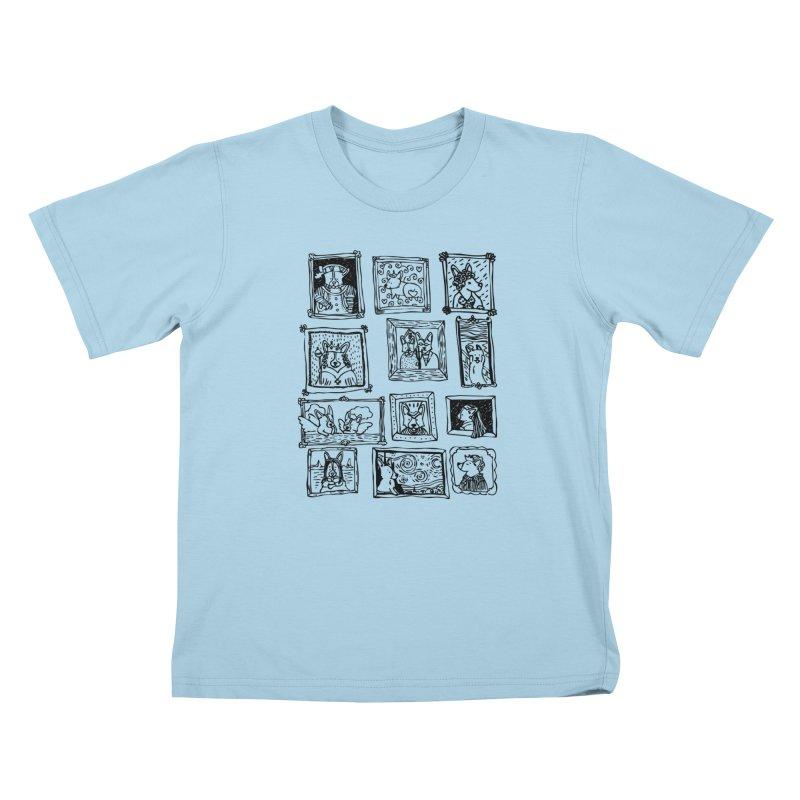 Corgi Portraits Kids T-Shirt by Corgi Tales Books