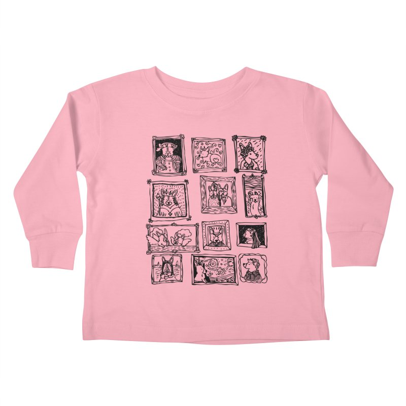 Corgi Portraits Kids Toddler Longsleeve T-Shirt by Corgi Tales Books
