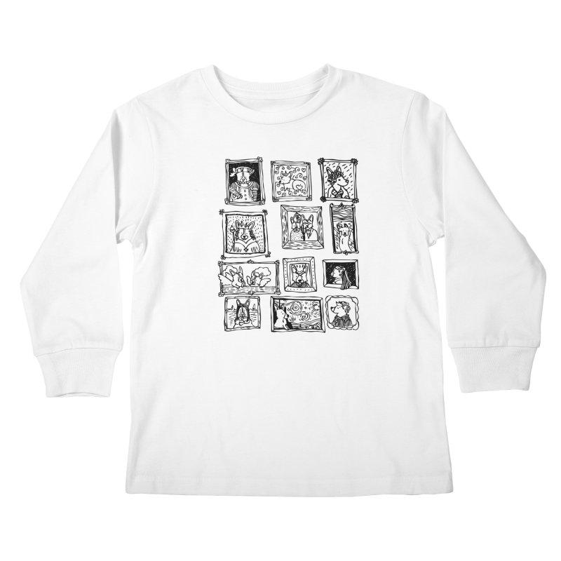 Corgi Portraits Kids Longsleeve T-Shirt by Corgi Tales Books