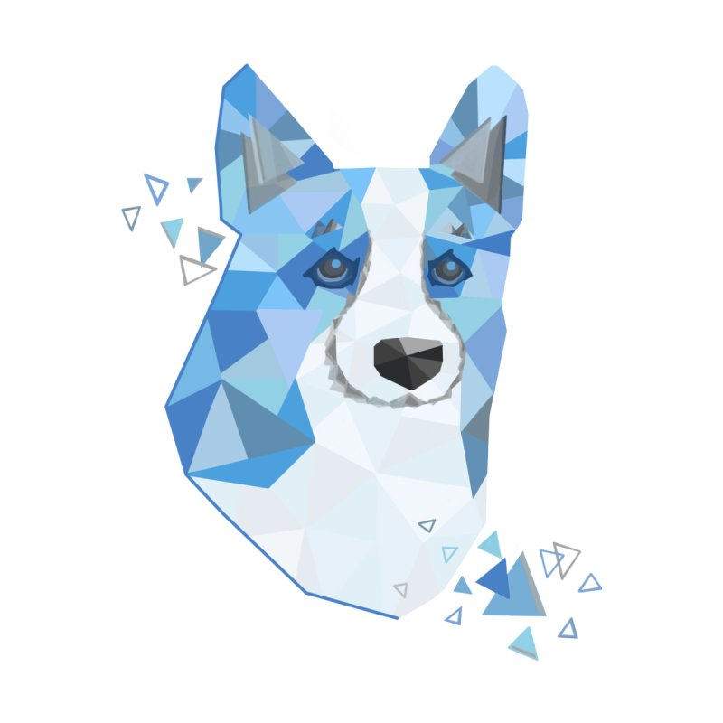 Geometric Corgi by Corgi Tales Books