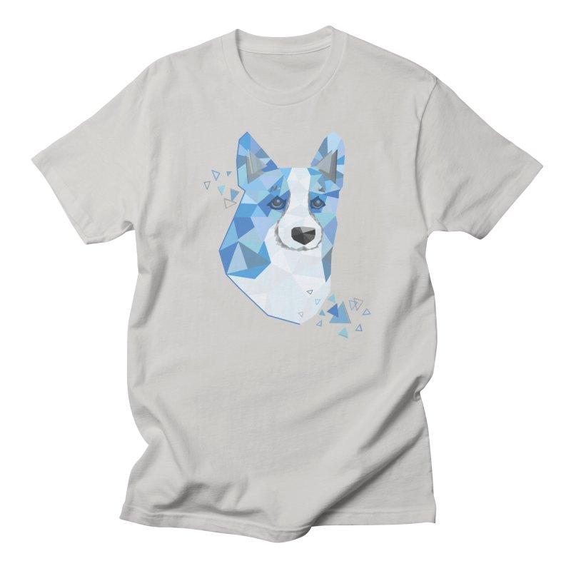 Geometric Corgi Men's T-Shirt by Corgi Tales Books