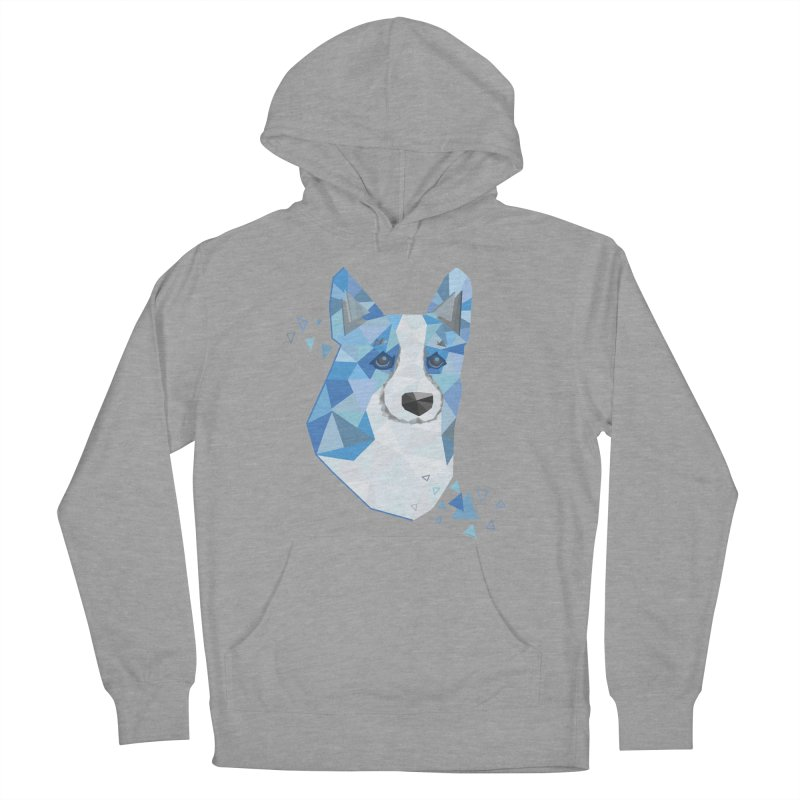 Geometric Corgi Men's French Terry Pullover Hoody by Corgi Tales Books