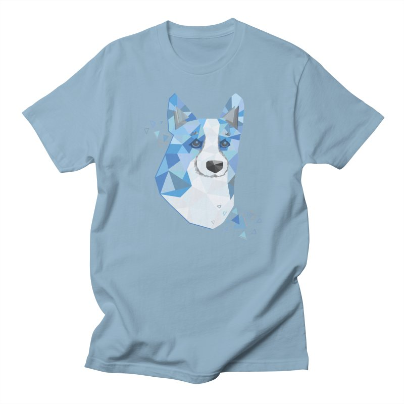 Geometric Corgi Men's Regular T-Shirt by Corgi Tales Books