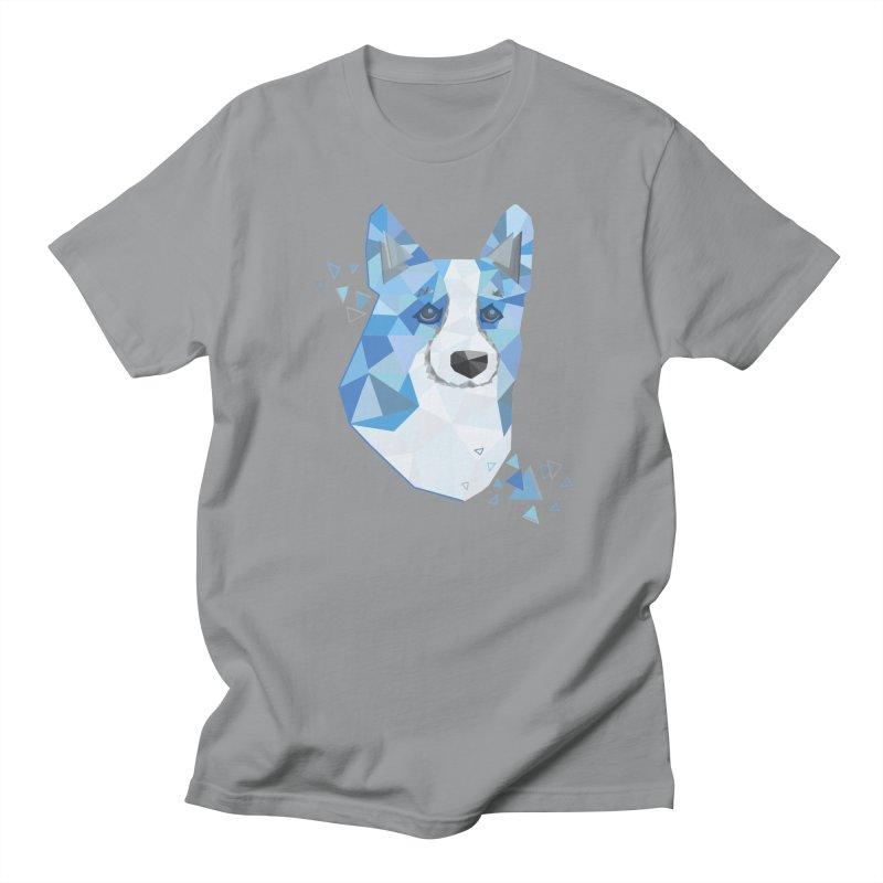 Geometric Corgi Men's Regular T-Shirt by Corgi Tales Books
