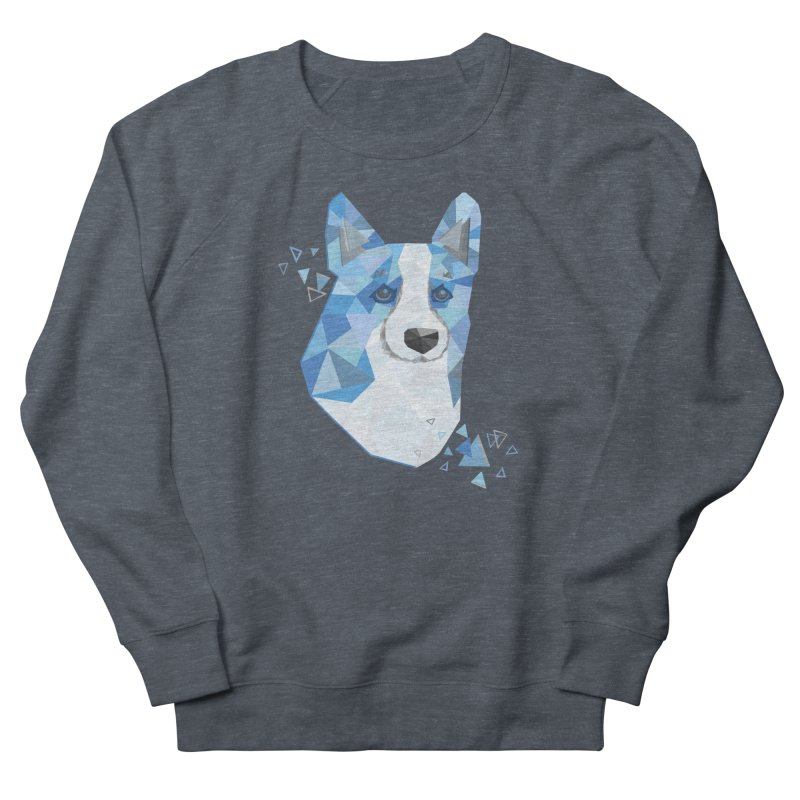 Geometric Corgi Men's Sweatshirt by Corgi Tales Books