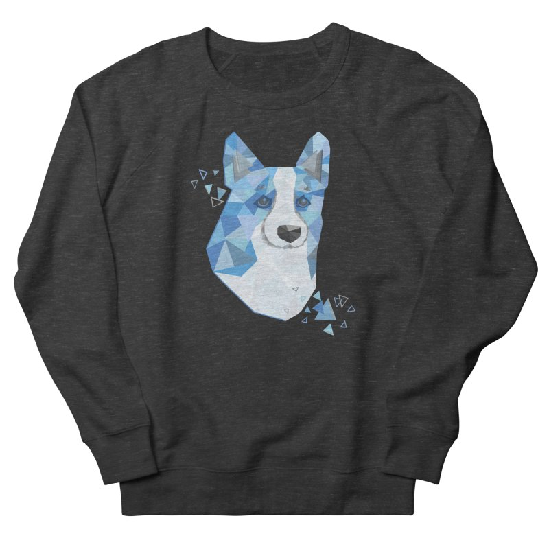 Geometric Corgi Men's French Terry Sweatshirt by Corgi Tales Books