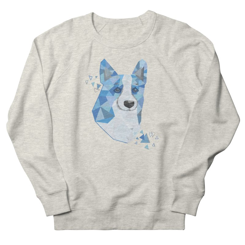 Geometric Corgi Men's Sweatshirt by Corgi Tales Books