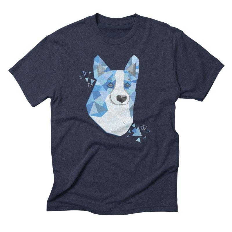 Geometric Corgi Men's Triblend T-Shirt by Corgi Tales Books