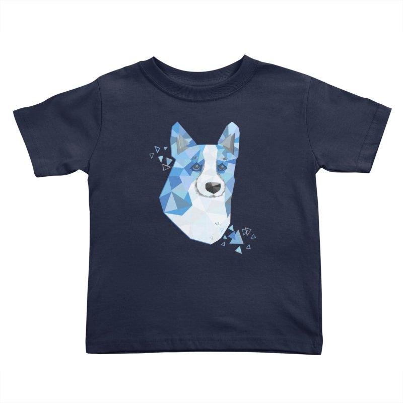 Geometric Corgi Kids Toddler T-Shirt by Corgi Tales Books