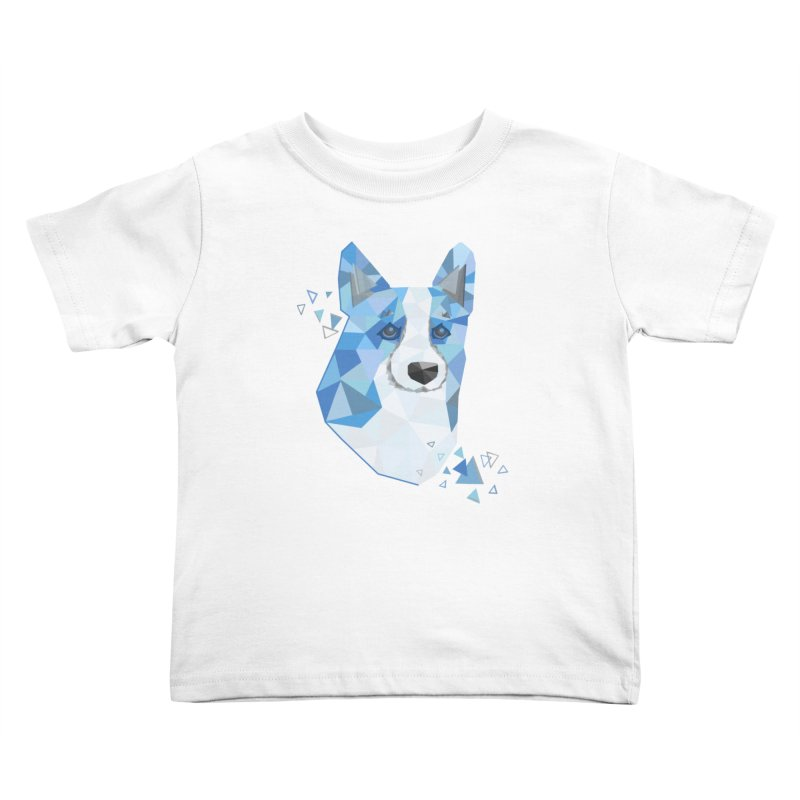Geometric Corgi Kids Toddler T-Shirt by Corgi Tales Books