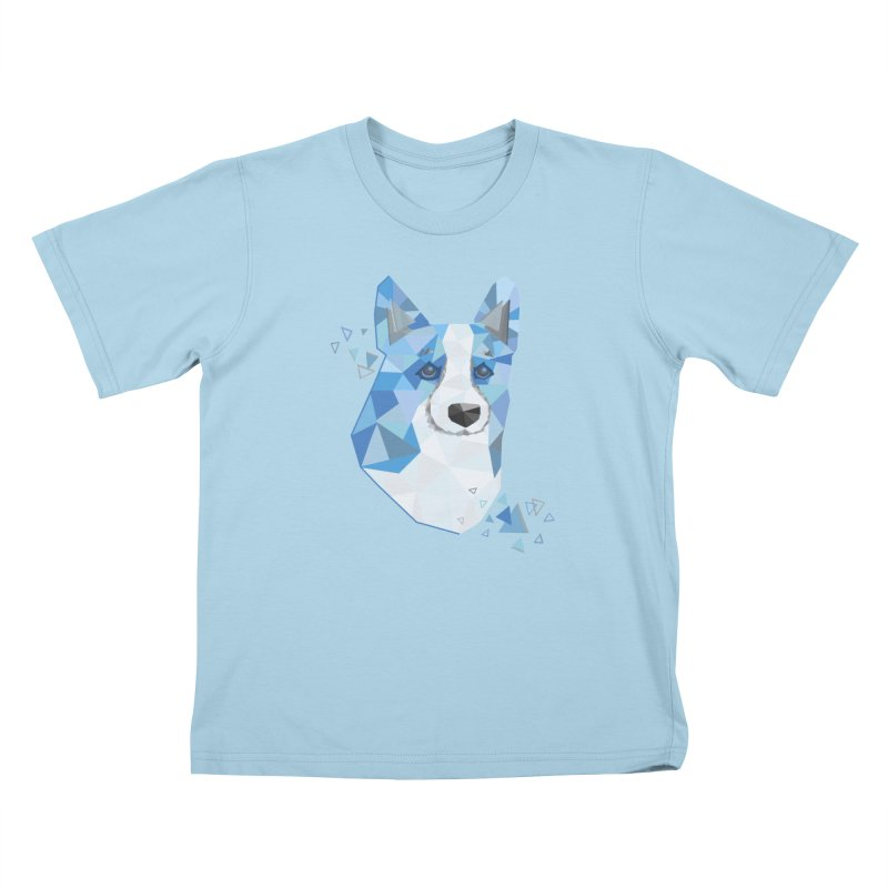 Geometric Corgi Kids T-Shirt by Corgi Tales Books