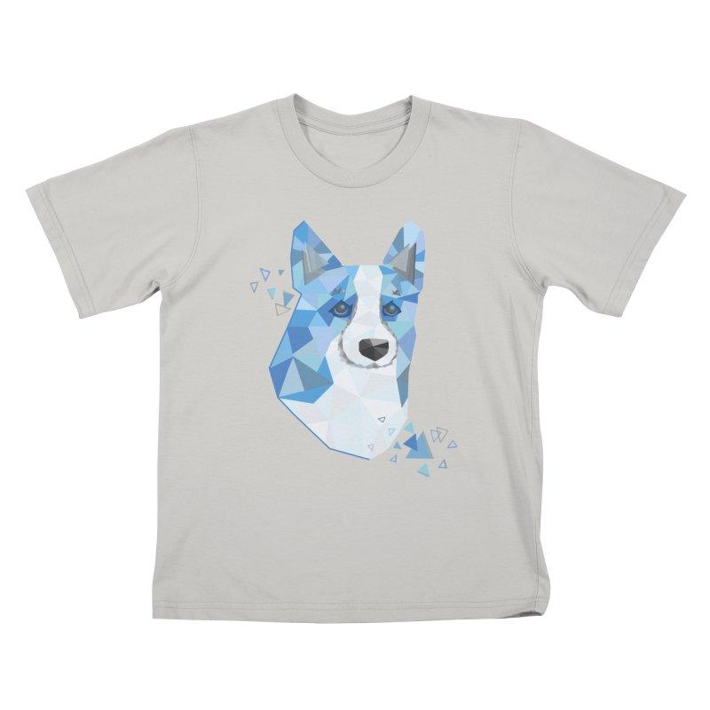 Geometric Corgi Kids T-Shirt by Corgi Tales Books