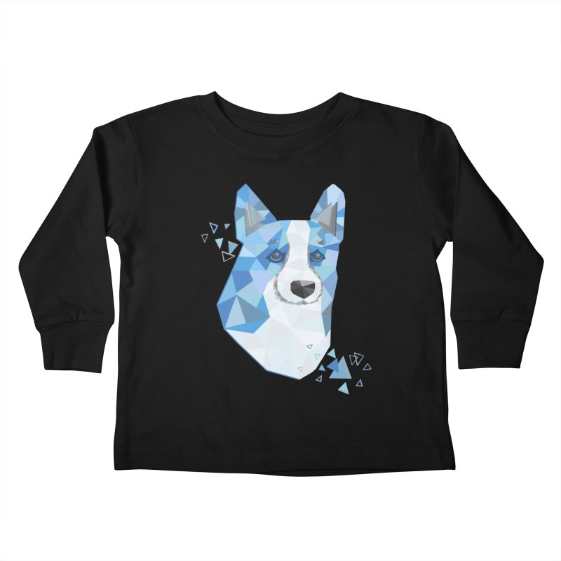 Geometric Corgi Kids Toddler Longsleeve T-Shirt by Corgi Tales Books