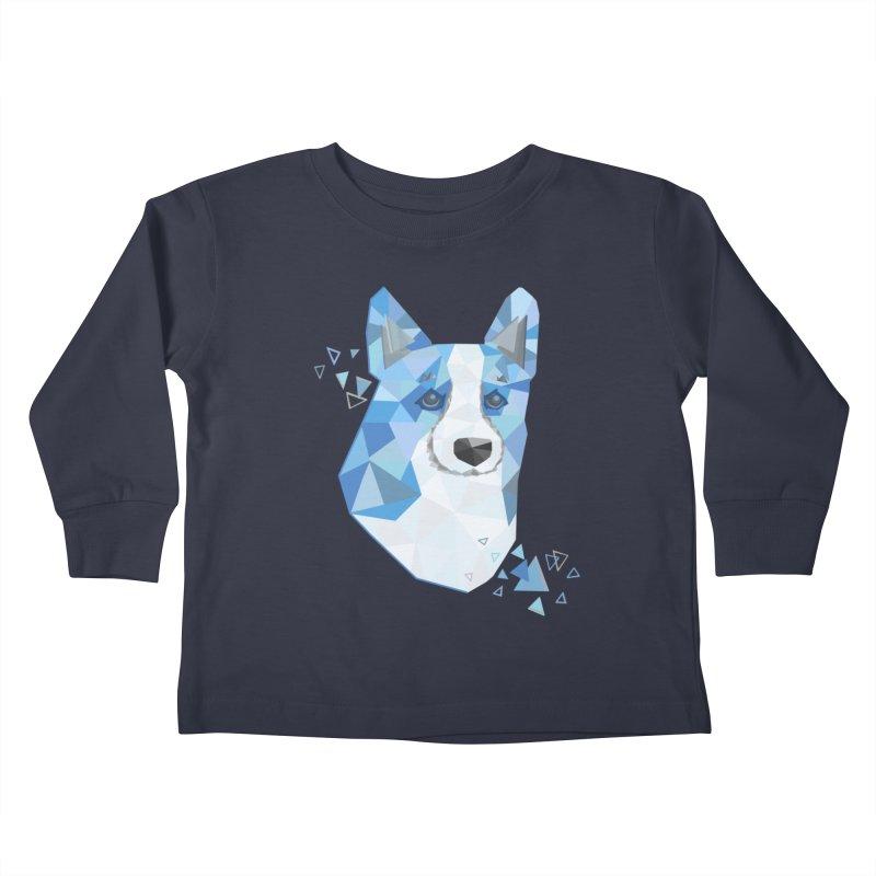Geometric Corgi Kids Toddler Longsleeve T-Shirt by Corgi Tales Books