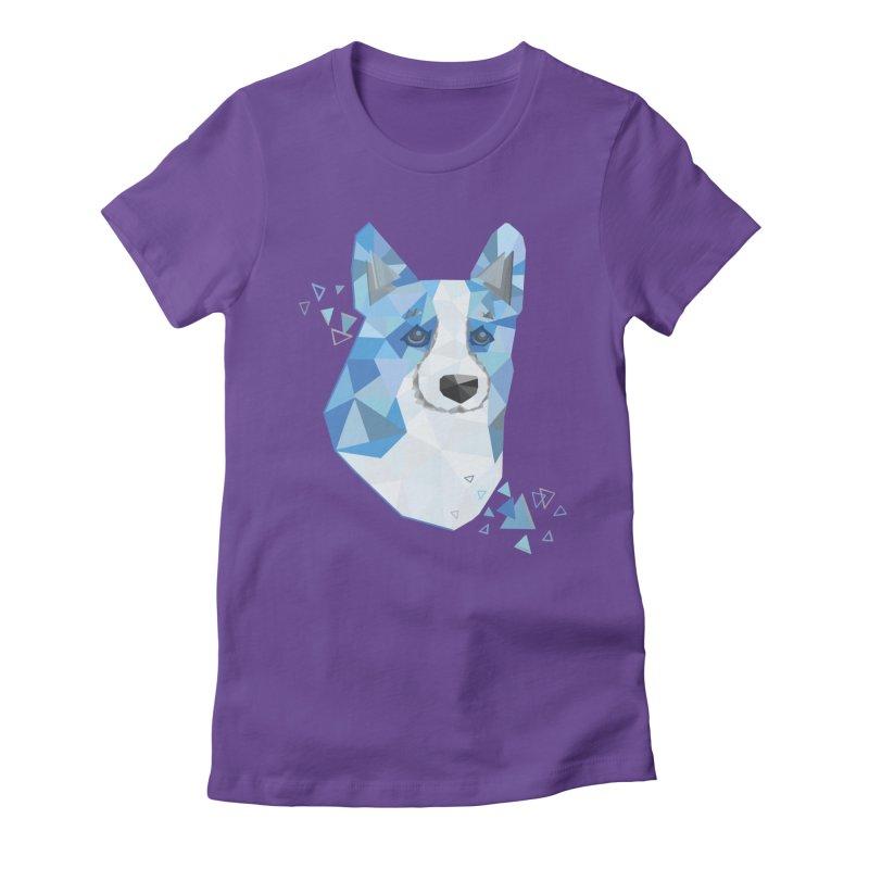 Geometric Corgi Women's Fitted T-Shirt by Corgi Tales Books