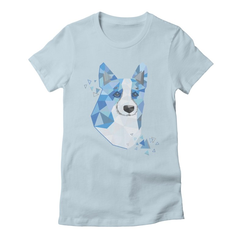 Geometric Corgi Women's Fitted T-Shirt by Corgi Tales Books