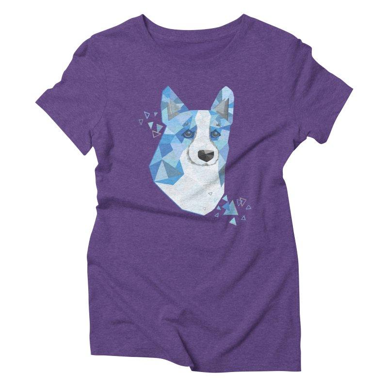Geometric Corgi Women's Triblend T-Shirt by Corgi Tales Books