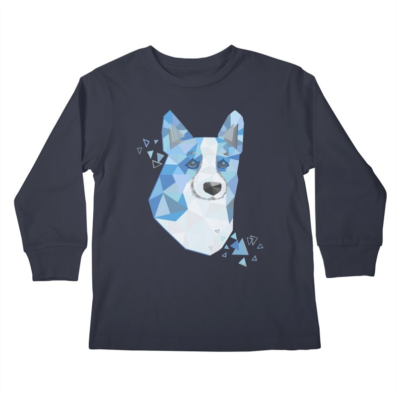 Geometric Corgi Kids Longsleeve T-Shirt by Corgi Tales Books