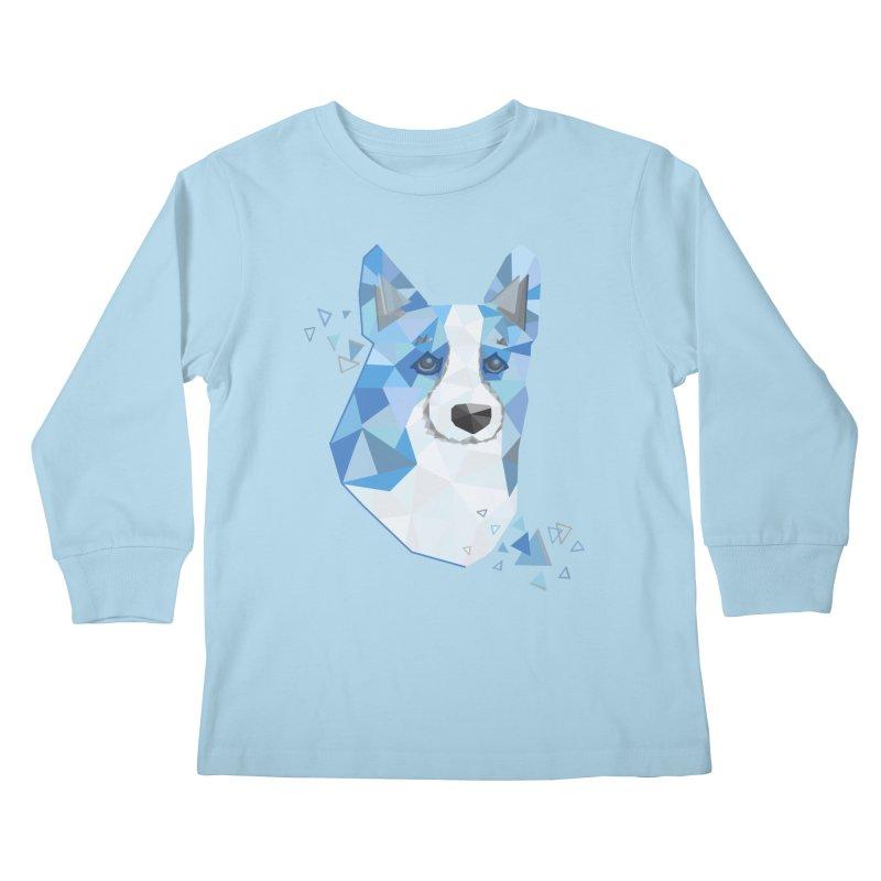 Geometric Corgi Kids Longsleeve T-Shirt by Corgi Tales Books